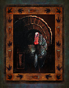Hunting Posters - Turkey Lodge Poster by JQ Licensing