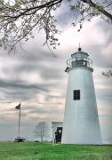 Chesapeake Bay Metal Prints - Turkey Point Lighthouse Metal Print by Mark Fuller
