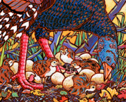 Nadi Spencer Painting Prints - Turkeys Print by Nadi Spencer
