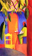 Macke Framed Prints - Turkish Cafe II Framed Print by Pg Reproductions