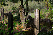 Headstones Prints - Turkish cemetery in rural Mugla Province Print by Louise Heusinkveld