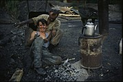 Turkey Metal Prints - Turkish Coal Miners Enjoy A Break Metal Print by Randy Olson