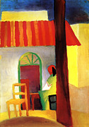Macke Framed Prints - Turkish Coffee Shop Framed Print by Stefan Kuhn