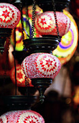 Colorful Photos Posters - Turkish Lights Poster by John Rizzuto