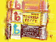 Banana Mixed Media Prints - Turkish Taffy Print by Russell Pierce