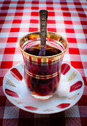 Red And Tea Prints - Turkish Tea Print by Noelia Hn