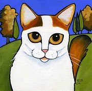 Ginger Cat Prints - Turkish Van  Print by Leanne Wilkes