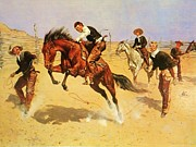 Great Plains Painting Posters - Turn Him Loose Bill Poster by Pg Reproductions