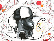 Hip Hop Painting Originals - Turn it Up by David Marion Green