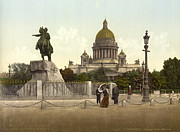 Saint Petersburg Photos - Turn Of The Century St. Petersburg by Photo Researchers