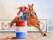 Barrel Paintings - Turn On A Dime by Michael Prout