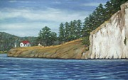 San Juan Paintings - Turn Point Lighthouse by Jackie  Hill