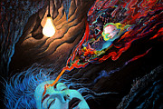 Psychedelic Paintings - Turn The Light On by Steve Griffith