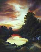 Clearing Painting Originals - Turners Sunrise by James Christopher Hill