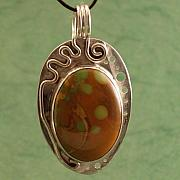 Sterling Silver Jewelry - Turquoise   Yes Really    Pendant by Lynette Fast