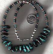 Fetishes Jewelry - Turquoise and Coral  mans choker by White Buffalo
