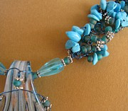 Turquoise And Silver Print by Annette Tomek
