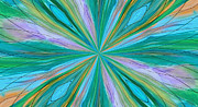 Digital Art Art - Turquoise Blast by Suzeee Creates