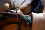 Praying Hands Prints - Turquoise Bracelet  Print by Susanne Van Hulst