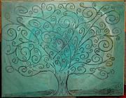 Holly McCarver - Turquoise Carving Tree