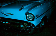 Fifties Automobile Photos - Turquoise Chevy by DigiArt Diaries by Vicky Browning
