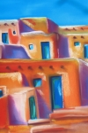Native American Pastels - Turquoise Doors by Dolores Aragon