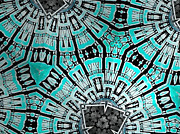 Hot Tapestries - Textiles - Turquoise by Erik Stoneburner