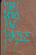 Turquoise Politics Print by Marco Kienle