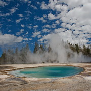 Yellowstone National Park Photos - Turquoise Pool by Amateur photographer, still learning...