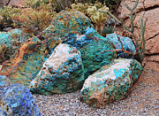 Turquiose  Metal Prints - Turquoise Rocks Metal Print by Donna Van Vlack