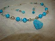 Silver Turquoise Jewelry Originals - Turquoise Splendor by Deborah Lynch