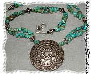 Sterling Silver Jewelry - Turquoise Sunset by Donna  Phitides