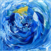 Vortex Paintings - Turquoise Swirl by Hakon Soreide
