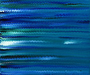 Expressive Painting Originals - Turquoise Waves by Hakon Soreide