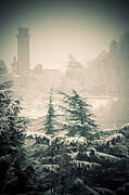 Italian Landscape Photo Prints - Turret in snow Print by Silvia Ganora
