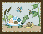 Shower Gift Posters - Turtle and Bugs Poster by Cheryl Lubben