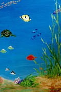 Rays Paintings - Turtle and Friends by Jamie Frier