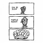 Power Drawings Prints - Turtle Power Comic Print by Karl Addison