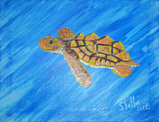 Baby Sea Turtle Paintings - Turtle Time by Michele Moore
