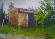 Shed Painting Framed Prints - Tuscan Abandoned Farm Shed Framed Print by Chris Hobel
