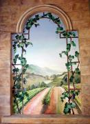 Vine Paintings - Tuscan Arch by Barbara Wilson