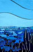 Abstract Landscape Art - Tuscan Blue View by Jason Allen