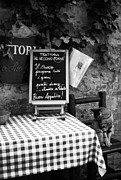 Menu Metal Prints - Tuscan Cafe Diner Metal Print by Andrew Soundarajan