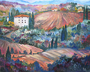 Villa Paintings - Tuscan Countryside by Julie Brugh Riffey