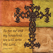 Bible Scripture Posters - Tuscan Cross Poster by Debbie DeWitt