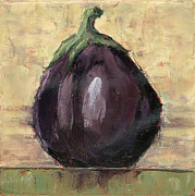 Olive Green Painting Prints - Tuscan Eggplant Print by Pam Talley