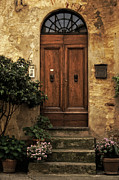 Entrance Door Framed Prints - Tuscan Entrance Framed Print by Andrew Soundarajan