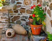 Italian Art Photo Prints - Tuscan Farm Print by ITALIAN ART- Angelica