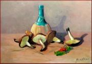 Het Paintings - Tuscan food composition by Fabio Biondi