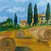 Villa Paintings - Tuscan Harvest by Julie Brugh Riffey